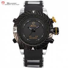 shark mens digital watches online mens shark watches digital luxury brand goblin shark sport watch men relogio masculino 3d design silicone band led digital black quartz mens watches sh168