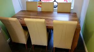 solid indian rosewood dining table and chairs