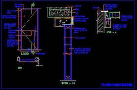 flush door fabication detail