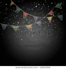 Chalkboard Background Chalkboard Background Drawing Bunting Flags Vector Stock Vector