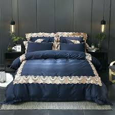 blue bed sheets queen exquisite bedding sets luxury blue exquisite lace embroidery bedding set queen king size duvet cover bed linen bed sheet pillowcases 4