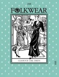 Folkwear Patterns Unique Folkwear Patterns Ladies Sewing Pattern Glamour Girl Dress FWP48