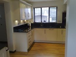 Kitchen : White Kitchen Cabinet In Small Space With Wooden Floor ...