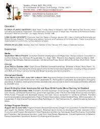 resume dr sandra frank clinical dietitian resume