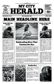 Free Front Page Newspaper Template The City Herald Front Page Newspaper Template Word Free Templates