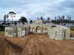 Concrete home construction using aluminum forms.
