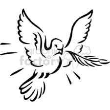 dove flying clipart. Exellent Dove White Dove Flying With A Branch In Its Mouth Back And White Throughout Dove Flying Clipart L