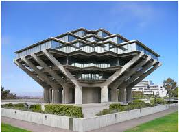 the 3rd floor of geisel library. the huge public courtyard that ...