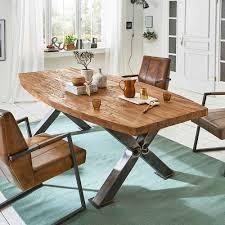 Esszimmertisch Aus Teak Recyclingholz X Fuß Tisch Kaufende