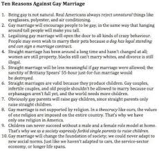 essay against same sex marriage argumentative essay against gay  top reasons to be against gay marriage news and current posted image