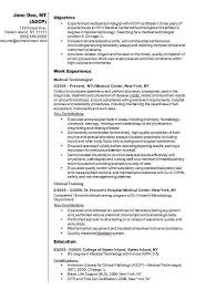 Medical Technology Example Examples Of Resume Nuclear Medicine Technologist Medical Alid Info