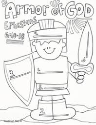 A fun filled page for kids activities. Armor Of God Coloring Pages Religious Doodles