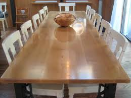 Hand Made Oregon Oak Dining Table Custom Legs By Fix Studio