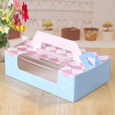 Decorative Cookie Boxes Free shipping bakery package blue pink window decoration Swiss 64