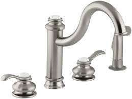 4 Hole Kitchen Faucet Brushed Nickel Lowes Faucets Kitchen Kitchen