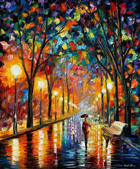 oil painting before the celebration by leonid afremov