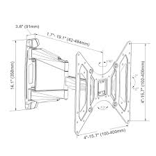 Amazon loctek o2m outdoor heavy duty articulating tilting tv wall mount bracket for 26 50 inch electronics