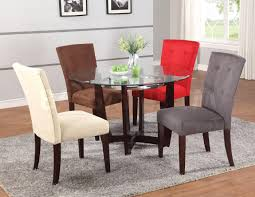 Tufted Dining Room Sets Baldwin Grey Microfiber Tufted Chair Acme Furniture 13600 Lights