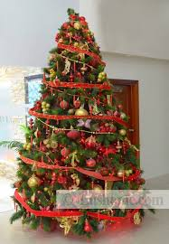 christmas trees decorated with red ribbon. Delighful Ribbon Red Christmas Tree Decorations And Ribbons Intended Trees Decorated With Ribbon G