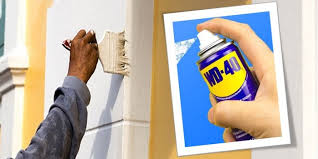 how to remove wd 40 from painted walls