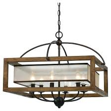 wood and metal chandelier square frame sheer 6 light chandeliers squares woods globe
