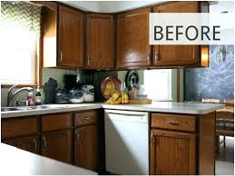 cabinet paint cost before and after kitchen cabinet staining kitchen cabinet makeovers before after photos that