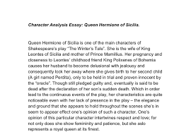 character analysis of queen hermione a level english marked by  document image preview