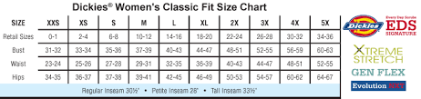 Dickies Juniors Pants Size Chart Scrubs And Uniforms Size Charts