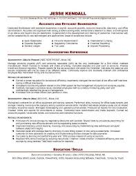Efficient Of Dedicated Bookkeeper With Resume Objective Example And