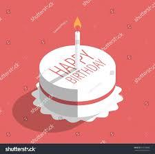 Flat Birthday Cake Designs Birthday Cake Candle Vector Illustration On Stock Image