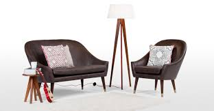 Living Room Furniture Seattle Seattle 2 Seater Sofa Oxford Brown Premium Leather Madecom