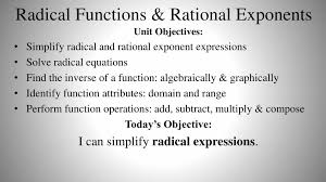 radical functions rational exponents