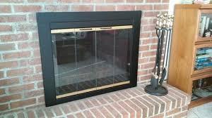 pleasant hearth arrington medium glass fireplace doors ar