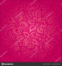 Rode Bloemen Vector Patroon Behang Achtergrond Stockvector