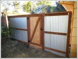corrugated metal fence diy corrugated metal privacy fence