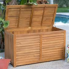 garden bench and seat pads outdoor lockable storage