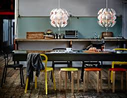 view of two open exploding pendant lamps by david wahl for ikea ps collection 2016