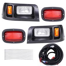 Club Car Lights Details About Club Car Ds Halogen Headlight Led Tail Light Kit 1998 Up Golf Cart Lights