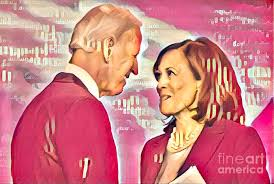 Biden and Harris Painting by Ana Smith