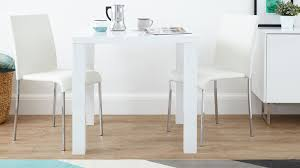 Small Picture White Gloss Dining Set Square Table Stackable Chairs UK