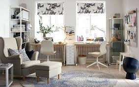 Neutral home office ideas Rug Ikea Office Ideas Beige And White Home Office In Neutral Coloured Sitting Room Environment Klopiinfo Ikea Office Ideas Klopiinfo