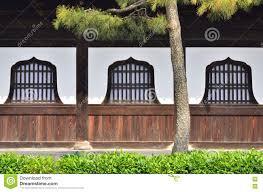 Wooden Window Panes Of Zen Temple Kyoto Japan Stock Image Image
