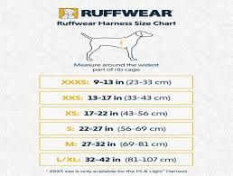 Ruffwear For Dogs On The Go Dog Harness Size Chart By