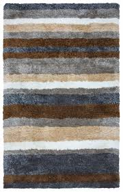 commons soft area rug 9x12 multi color grey blue brown beige white striped