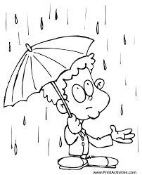 Small Picture Free Printable Spring Coloring Page Spring Rain