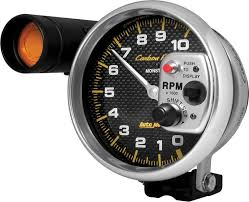 camaro 2010 up parts dash components gauges aftermarket 5 auto meter carbon fiber series 5 10 000 rpm pedestal mount tachometer amber shift light