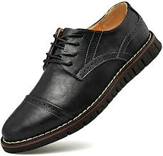Men`s Brogues Oxford Genuine <b>Leather Dress Shoes</b> Wingtip ...