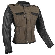women s six sd sisters leather textile jacket