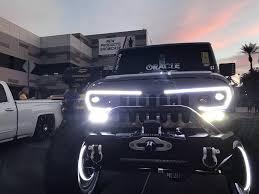 Led Lights For 2013 Jeep Wrangler Jeep Wrangler Jk Vector Pro Series Led Grill Oracle Lighting