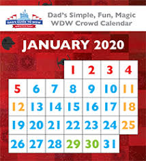 Dads Walt Disney World Crowd Calendars